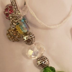 Bejeweled pinky ring w crystal balls sun catcher